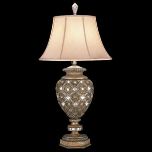 A Midsummers Nights Dream One-Light Table Lamp in Cool Moonlit Patina Finish