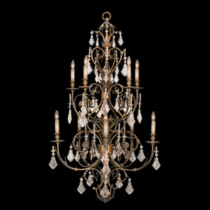 Verona 10-Light Chandelier in Veronese Gold Finish