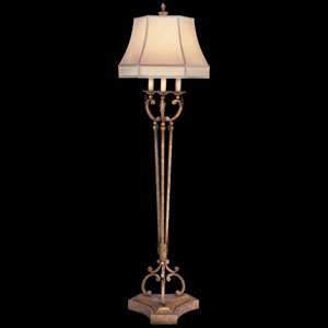 A Midsummers Nights Dream One-Light Floor Lamp in Cool Moonlit Patina Finish