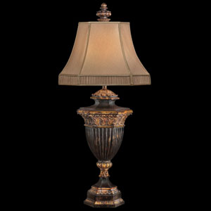 Castile One-Light Table Lamp in Gold Leaf Finish