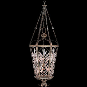 Winter Palace 10-Light Pendant in Warm Antiqued Silver Finish