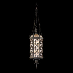 Costa Del Sol Four-Light Outdoor Lantern in Wrought Iron Finish