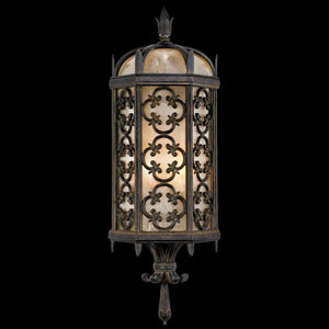 Costa Del Sol Two-Light Outdoor Wall Mount in Wrought Iron Finish