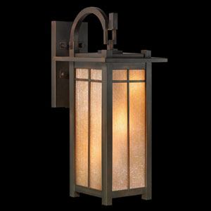 Capistrano Three-Light Outdoor Wall Mount in Warm Bronze Patina Finish
