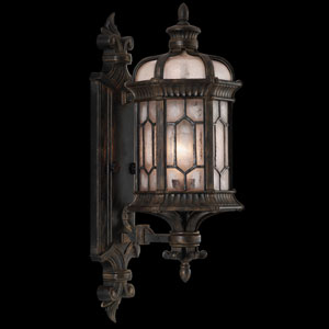 Devonshire One-Light Outdoor Wall Mount in Antiqued Bronze Finish