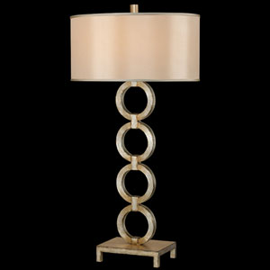 Portobello Road One-Light Table Lamp in Platinized Silver Finish