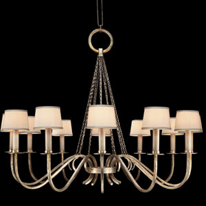 Portobello Road 12-Light Chandelier in Platinized Silver Finish