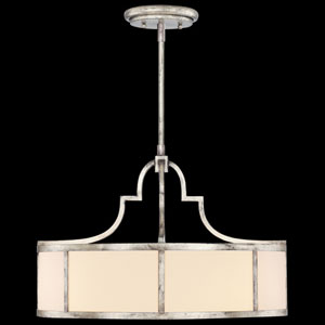 Portobello Road Three-Light Pendant in Platinized Silver Finish