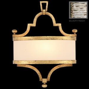 Portobello Road One-Light Coupe Wall Sconce in Platinized Silver Finish