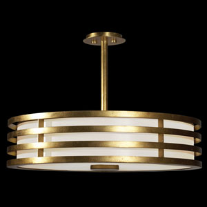 Portobello Road Three-Light Pendant in Dore Gold Finish