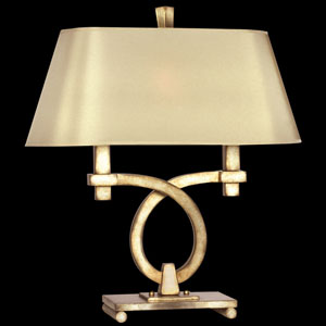 Portobello Road Two-Light Table Lamp in Platinized Silver Finish