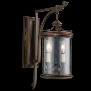Louvre Two-Light Outdoor Wall Mount in Bronze Finish
