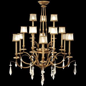 Monte Carlo 15-Light Chandelier in Gently Worn Gold Leaf Finish