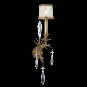 Monte Carlo One-Light Wall Sconce in Gently Worn Gold Leaf Finish