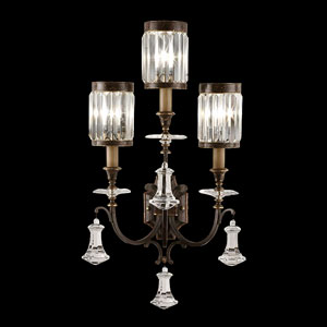 Eaton Place Three-Light Wall Sconce in Rustic Iron Finish