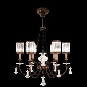 Eaton Place Six-Light Chandelier in Rustic Iron Finish