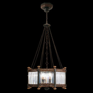 Eaton Place Eight-Light Pendant in Rustic Iron Finish