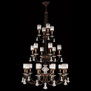 Eaton Place 20-Light Chandelier in Rustic Iron Finish