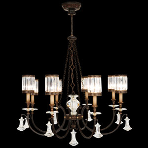 Eaton Place Eight-Light Chandelier in Rustic Iron Finish