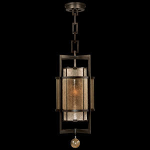 Singapore Moderne One-Light Lantern in Brown Patinated Bronze Finish
