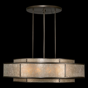 Singapore Moderne 12-Light Pendant in Brown Patinated Bronze Finish