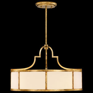 Portobello Road Eight-Light Pendant in Dore Gold Finish