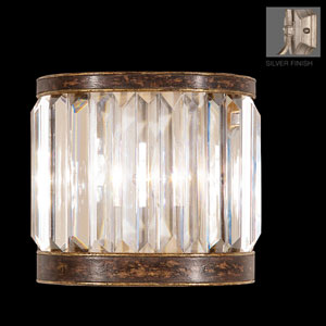 Eaton Place Silver One-Light Coupe Wall Sconce in Silver Leaf Finish
