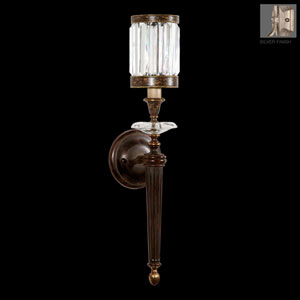 Eaton Place Silver One-Light Wall Sconce in Warm Muted Silver Leaf Finish
