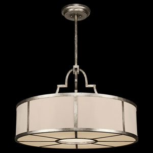 Portobello Road Eight-Light Pendant in Platinized Silver Finish