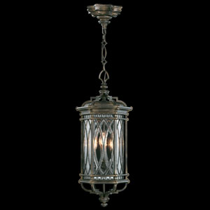 Warwickshire Four-Light Outdoor Lantern in Wrought Iron Patina Finish