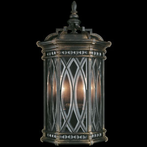 Warwickshire Two-Light Outdoor Wall Sconce in Wrought Iron Patina Finish