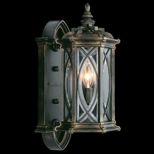 Warwickshire One-Light Outdoor Wall Mount in Wrought Iron Patina Finish