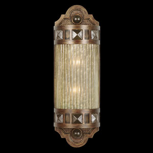 Scheherazade Two-Light Wall Sconce with Aged Dark Bronze Finish and Hand Blown Glass in Oasis Green