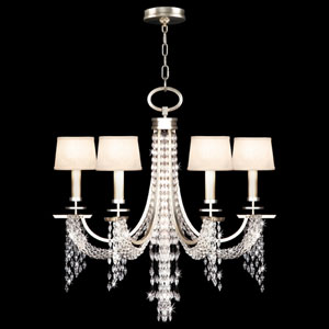 Cascades Six-Light Chandelier in Warm Silver Leaf Finish