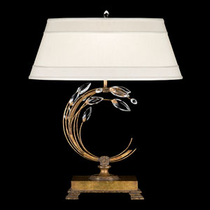 Crystal Laurel Gold One-Light Table Lamp