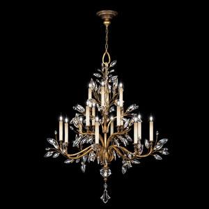Crystal Laurel Gold 16-Light Chandelier