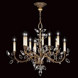 Crystal Laurel Gold 10-Light Chandelier