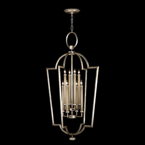 Allegretto Eight-Light Lantern in Platinized Silver Leaf Finish