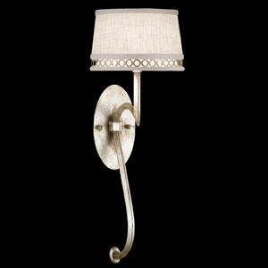 Allegretto One-Light Wall Sconce in Platinized Silver Leaf Finish