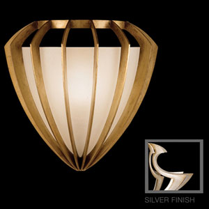 Staccato One-Light Coupe Wall Sconce in Toned Silver Leaf Finish