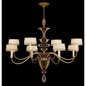 Staccato Eight-Light Chandelier in Toned Gold Leaf Finish