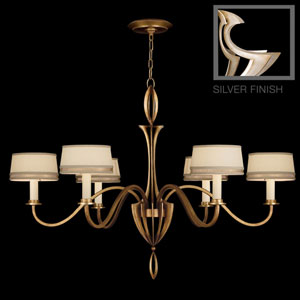Staccato Six-Light Chandelier in Toned Silver Leaf Finish