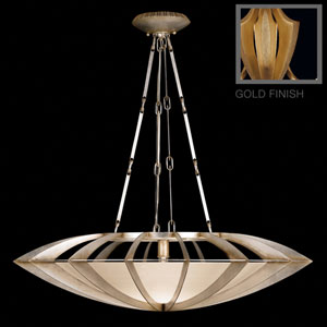 Staccato One-Light Pendant in Toned Gold Leaf Finish