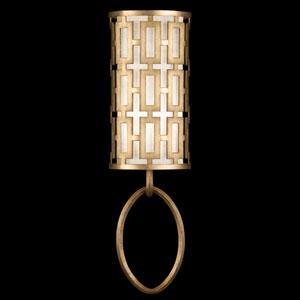 Allegretto One-Light Wall Sconce in Burnished Gold Leaf Finish