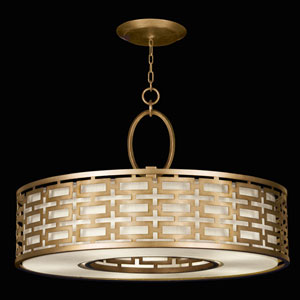 Allegretto Five-Light Pendant in Burnished Gold Leaf Finish