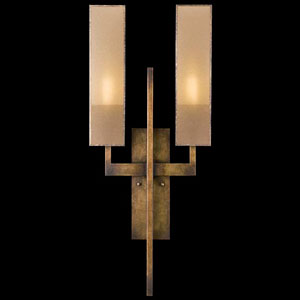 Perspectives Two-Light Wall Sconce in Patinated Golden Bronze Finish