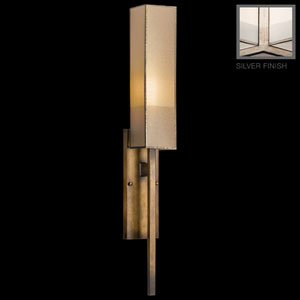 Perspectives Silver One-Light Wall Sconce in Warm Muted Silver Leaf Finish
