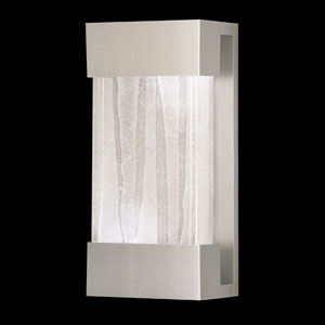 Crystal Bakehouse Two-Light Wall Sconce in Silver Finish with Handcrafted, Polished Block of Crystal Shards