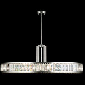 Crystal Enchantment 10-Light Pendant in Silver Leaf Finish