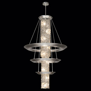 Celestial 21-Light Pendant in Silver Leaf Finish